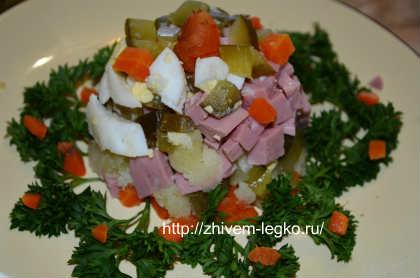 Как приготовить салат оливье_ готовое блюдо