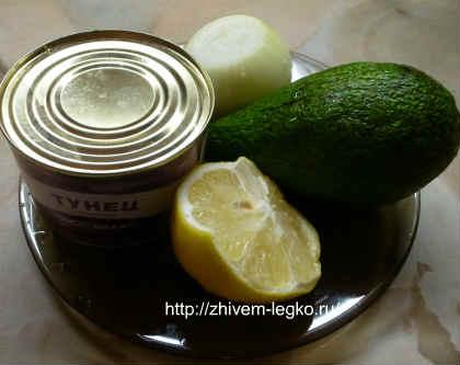 Салат с авокадо и тунцом_продукты