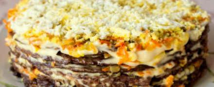Печеночный торт- рецепт с фото готовим дома_ сборка печеночного торта