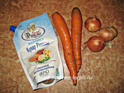 Печёночный торт, рецепт с фото пошагово_продукты для начинки