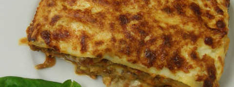 Лазанья- рецепт с фаршем в духовке_готовая лазанья
