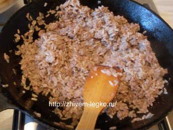 Рецепт лазаньи с фаршем с фото пошагово_начинка из фарша