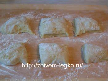 Рецепт лазаньи с фаршем с фото пошагово_разделить тесто на части