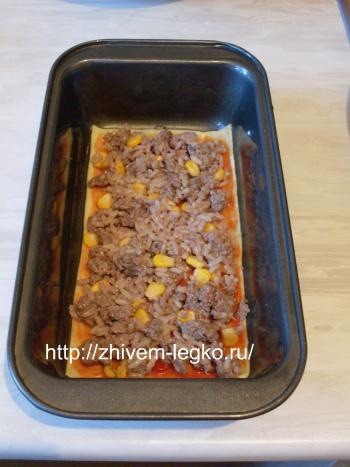 Рецепт лазаньи с фаршем с фото пошагово_выложить фарш