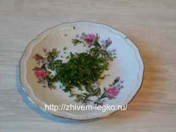 Рецепт лазаньи с фаршем с фото пошагово_нашинковать зелень петрушки