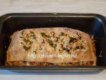 Рецепт лазаньи с фаршем с фото пошагово_выпекать в духовке