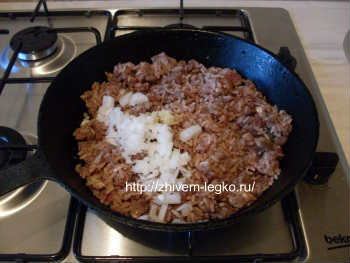 Рецепт лазаньи с фаршем с фото пошагово_пережарить фарш