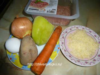 Котлеты с сыром внутри-рецепт с фото_необходимые продукты