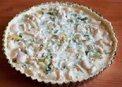 Пирог киш-рецепт с фото_выложить начинку
