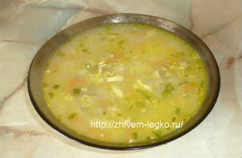 Суп из шампиньонов с картофелем-рецепт пошаговый_суп в тарелке готов
