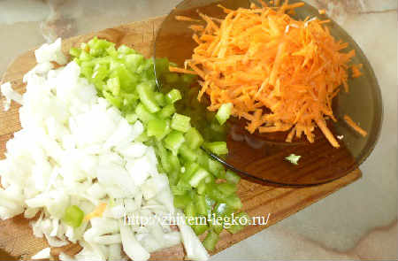 Суп с грибами шампиньонами рецепт с фото_нарезать овощи