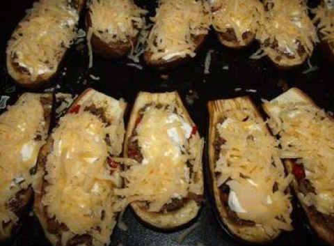Лодочки из баклажанов в духовке с фаршем_рецепт