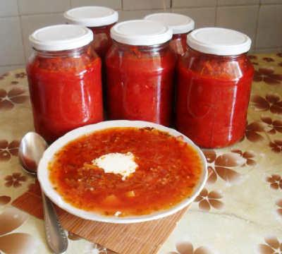 Заправки для супов на зиму в банках_овощная для борща
