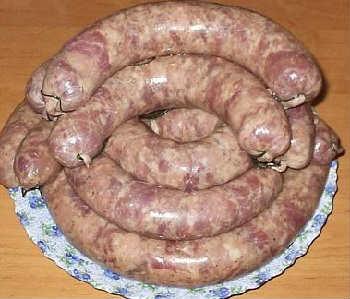 Колбаса домашняя самый вкусный рецепт_ перекручивание и завязывание