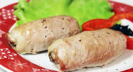 Крученики из свинины рецепт с фото_ с сыром и грибами
