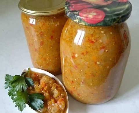 Салат из зеленых помидоров без стерилизации_на зиму